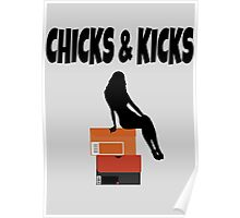 chicks and kicks Poster