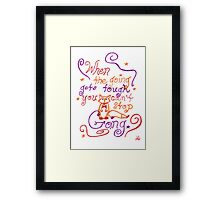 """When The Going Gets Tough..."" Fox Quote Framed Print"