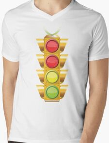 traffic lights Mens V-Neck T-Shirt