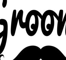 """Groom"" Mustache Typography Sticker"
