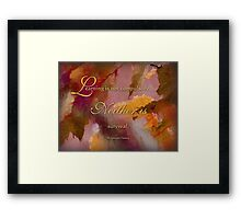 survival - wisdom saying 6 Framed Print