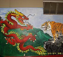 Dragon VS Tiger by XStina