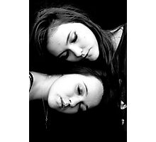 Sister's in Portrait Photographic Print