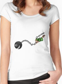 Link and Bow-Wow Women's Fitted Scoop T-Shirt