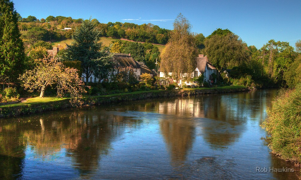 Bickleigh from the bridge by Rob Hawkins