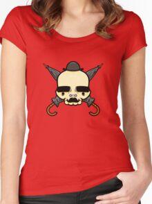 Gentleman Skull Women's Fitted Scoop T-Shirt