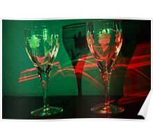 Red glass, Green glass Poster