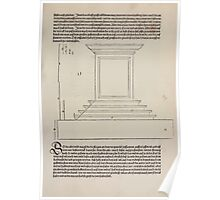 Measurement With Compass Line Leveling Albrecht Dürer or Durer 1525 0097 Repeating Shapes Poster