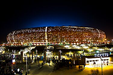 FNB Stadium - National Stadium (Soccer City) - The Crowd by RatManDude