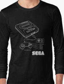 Sega Genesis Technical Diagram Long Sleeve T-Shirt
