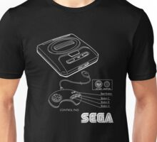 Sega Genesis Technical Diagram Unisex T-Shirt
