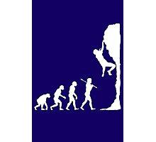 Rock climbing evolution geek funny nerd Photographic Print