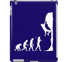 Rock climbing evolution geek funny nerd iPad Case/Skin