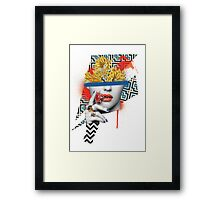 Flower Pot Head Framed Print