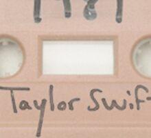 taylor swift cassete Sticker