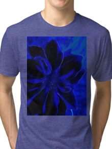 Blue Royal Flower Tee Tri-blend T-Shirt