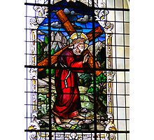 Stained Glass Jesus Photographic Print
