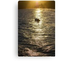 Boat on the Sea Canvas Print