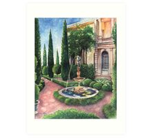 Formal Flora and Architecture Art Print