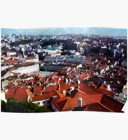 Roofs of Lisbon Poster