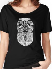 Tattoo Lady with Birds Women's Relaxed Fit T-Shirt