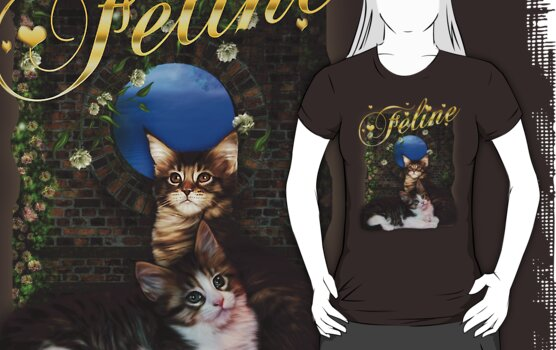 Feline Love Kitten T Shirt by Moonlake