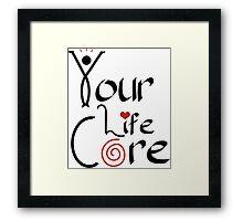 YourLifeCORE Logo Framed Print