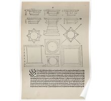 Measurement With Compass Line Leveling Albrecht Dürer or Durer 1525 0086 Repeating Shapes Poster