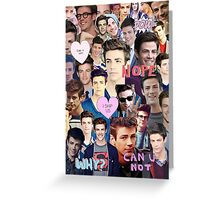 Grant Gustin Collage  Greeting Card