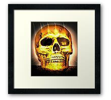 skull with effects Framed Print