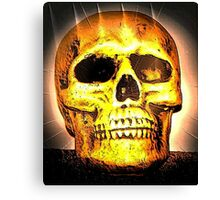 skull with effects Canvas Print