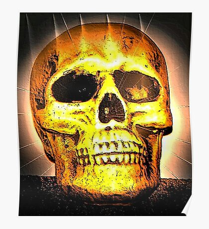 skull with effects Poster