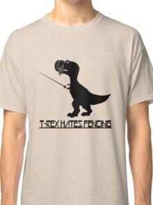 T rex hates fencing light geek funny nerd Classic T-Shirt