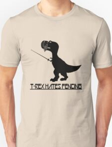 T rex hates fencing light geek funny nerd Unisex T-Shirt