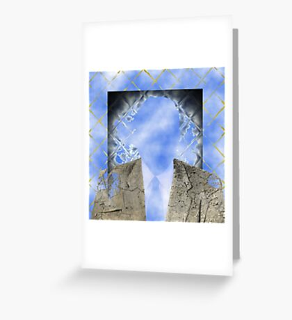 Through the Clear Window Greeting Card