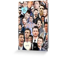Chris Evans Collage Greeting Card