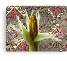 Maize with Aztec Design Canvas Print