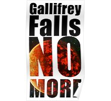 Gallifrey - No More - Simple Typography Collection Poster