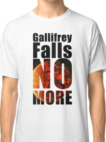 Gallifrey - No More - Simple Typography Collection Classic T-Shirt