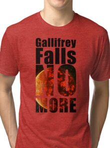 Gallifrey - No More - Simple Typography Collection Tri-blend T-Shirt