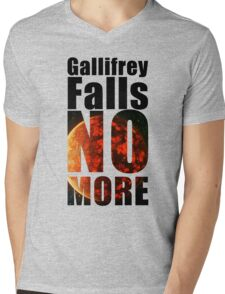 Gallifrey - No More - Simple Typography Collection Mens V-Neck T-Shirt