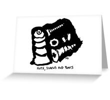 Nuts,screws and bolt Greeting Card