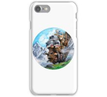 Howl's Moving Castle (Circle Scenery)  iPhone Case/Skin