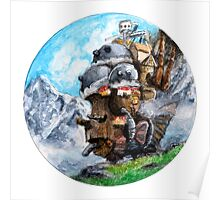 Howl's Moving Castle (Circle Scenery)  Poster