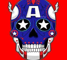 Captain America - Sugar Skull Series by ValentinoVitela
