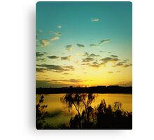 sunset silence Canvas Print