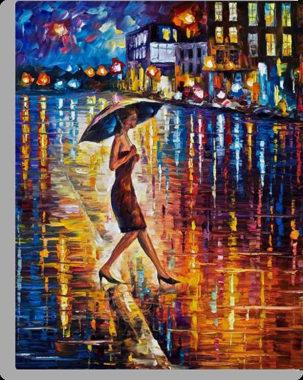 Late Return - original art oil painting by Leonid Afremov by Leonid  Afremov