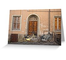 Pair of Bicycles Greeting Card