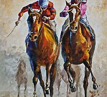 Contenders - Original Art Oil Painting On Canvas By Leonid Afremov by Leonid  Afremov