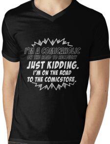 Comicaholic Mens V-Neck T-Shirt